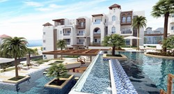 One-bedroom sea and pool view apartment at Alcamar